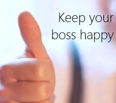 happy boss